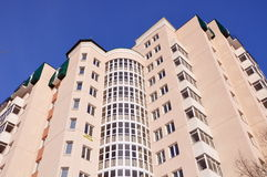 Modern and new apartment building. stock photos