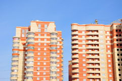 Modern and new apartment building. Royalty Free Stock Image