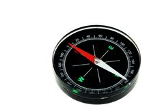 Modern New Black Magnetic Compass Isolated Stock Image