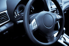 Modern new car. Control panel of the modern new car stock photo