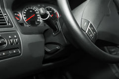 Modern new car. Control panel of the modern new car stock images