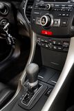 Modern new car. Control panel of the modern new car royalty free stock photography