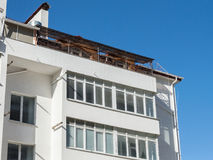 Modern, new executive apartment building Royalty Free Stock Images