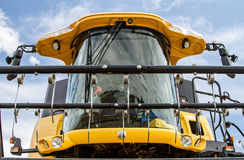 Modern New Holland combine harvester cab Stock Images