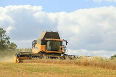 Modern New Holland combine harvester cutting crops Royalty Free Stock Photo