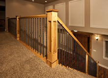Modern new home staircase Stock Photos