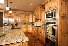 Modern New Kitchen and Appliances Stock Photos