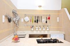 Modern new kitchen interior. With kitchen equipment Stock Photo