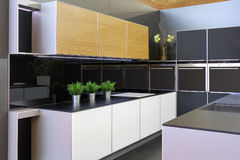 Modern new kitchen Royalty Free Stock Images