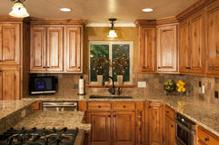 Modern New Kitchen Remodel royalty free stock photo