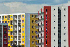 Modern, new and stylish living block of flats Royalty Free Stock Photography