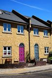 Modern new terraced houses Royalty Free Stock Photo