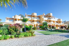 Modern new villa hotel for a holiday with the family.  Qu Stock Images