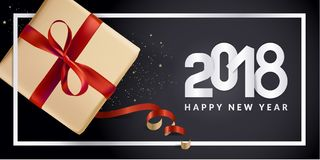 Modern New Year 2018 greeting card design Stock Photography