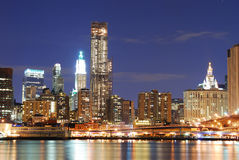 Modern New York City Skyline Royalty Free Stock Image