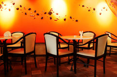 Modern night cafe Stock Images
