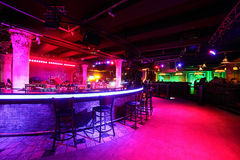 Modern night club in european style Royalty Free Stock Photo