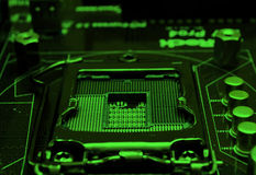 Modern 22 nm cpu socket Stock Photography