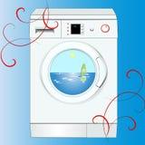 Modern noiseless washing Stock Image