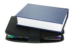 Modern notitieboekje en boek Stock Foto