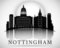 Modern Nottingham City Skyline Design. England Royalty Free Stock Photography