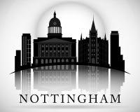 Modern Nottingham City Skyline Design. England. Modern Nottingham City Skyline Design stock illustration