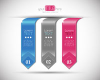 Modern number banners design template. Royalty Free Stock Image
