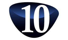 Modern Number 10 Stock Photo