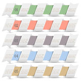 Modern numbered banners in origami style Royalty Free Stock Photography