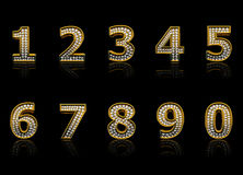 Modern numerals Royalty Free Stock Images