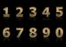 Modern numerals vector illustration