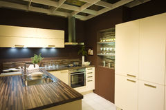 modern ny scale för 6 kök fotografering för bildbyråer