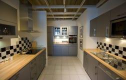 modern ny scale för 8 kök arkivfoto