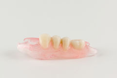 Modern nylon removable dentures Stock Photography
