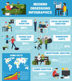 Modern Obsessions Infographics Stock Photos