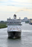 Modern ocean liner front view Stock Photography