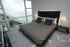 Modern ocean view condominium Stock Image