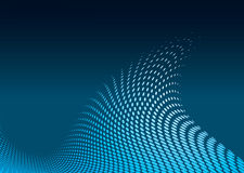 Modern ocean wave. Modern ocean surf wave with halftone dots and blue gradient Royalty Free Stock Images