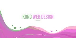 Modern och enkel design för abstrakt titelradwebsite Royaltyfria Foton