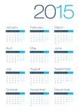 Modern och ren kalender för affär 2015 Arkivfoton