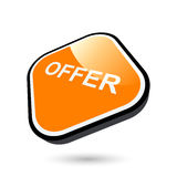 Modern offer sign Royalty Free Stock Photos