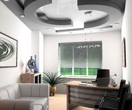Modern office. Modern interior of office, exclusive design Royalty Free Stock Photos