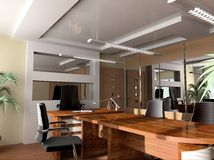 Modern office. Modern interior of office, exclusive design Royalty Free Stock Image