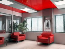 Modern office. Modern interior of office, exclusive design Stock Photos