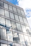 Modern office. Building with reflection of the sky royalty free stock images