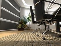Modern office. The modern office interior (3D rendering