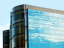 Modern Office. A modern office block with cloud reflections Stock Photography