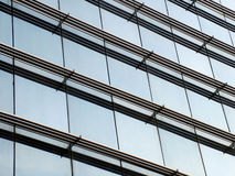 Modern office. Detail of a modern business building from outside royalty free stock photography