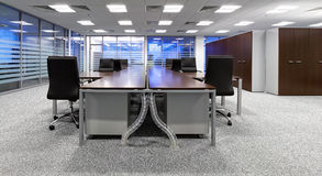 Modern office. A modern office interior design stock photography