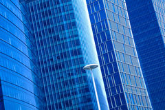 Modern office architecture at blue glass exterior wall backgroun Stock Photography